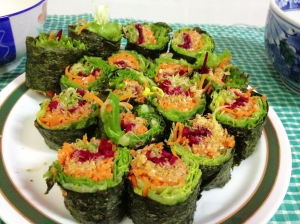 Home cooking- Vegetable Sushi Roll