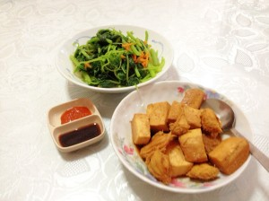 Meals of the day: Braised Tofu & Mushroom