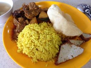 Nasi Briyani- Tian En Vegetarian Stall at Clementi Central