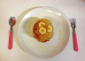 Home Baking- Vegan Banana Oatmeal Pancakes