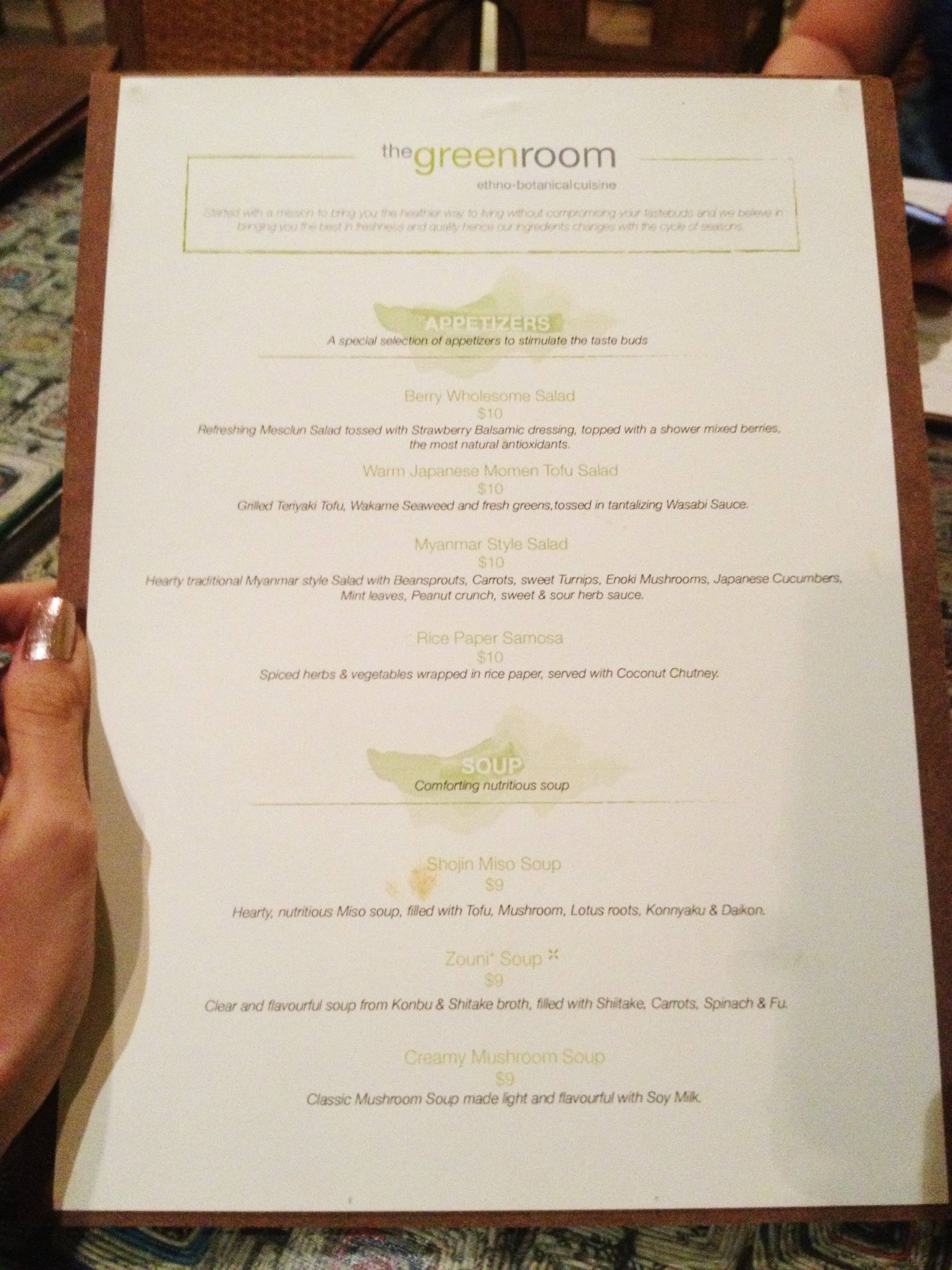 The Menu Was Different From The One Shown On Their Website And We Were  Spoilt For Choices.