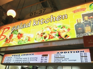 Cheapest Salad Bowl in CBD- B Salad Kitchen at Amoy Food Centre