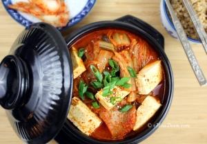 Home Cooking- Enoki Mushroom and Tofu Kimchi Soup