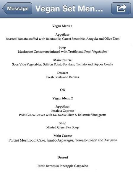 Vegetarian Wedding Menu Mr Amp Mrs Vegan