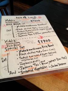 Yuba Mushroom Rice Bowl- Hale Organic and Vegan Restaurant in Kyoto